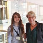 Die Schülerin Laura Jakal von der Louis-Lepois Schule Baden-Baden hat beim Eurpäischen Wettbewerb den ersten Platz gewonnen. Mit ihrem Bild zeichnete sie ein optimistisches Bild von Europa. Weiter so!