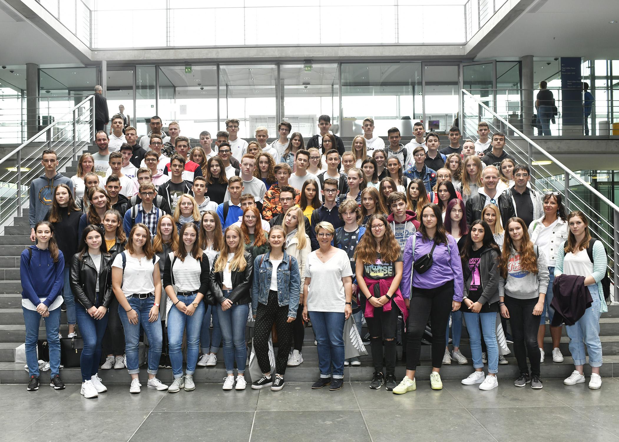 10. Klasse des Wilhelm-Hausenstein-Gymnasiums aus Durmersheim auf Studienfahrt.