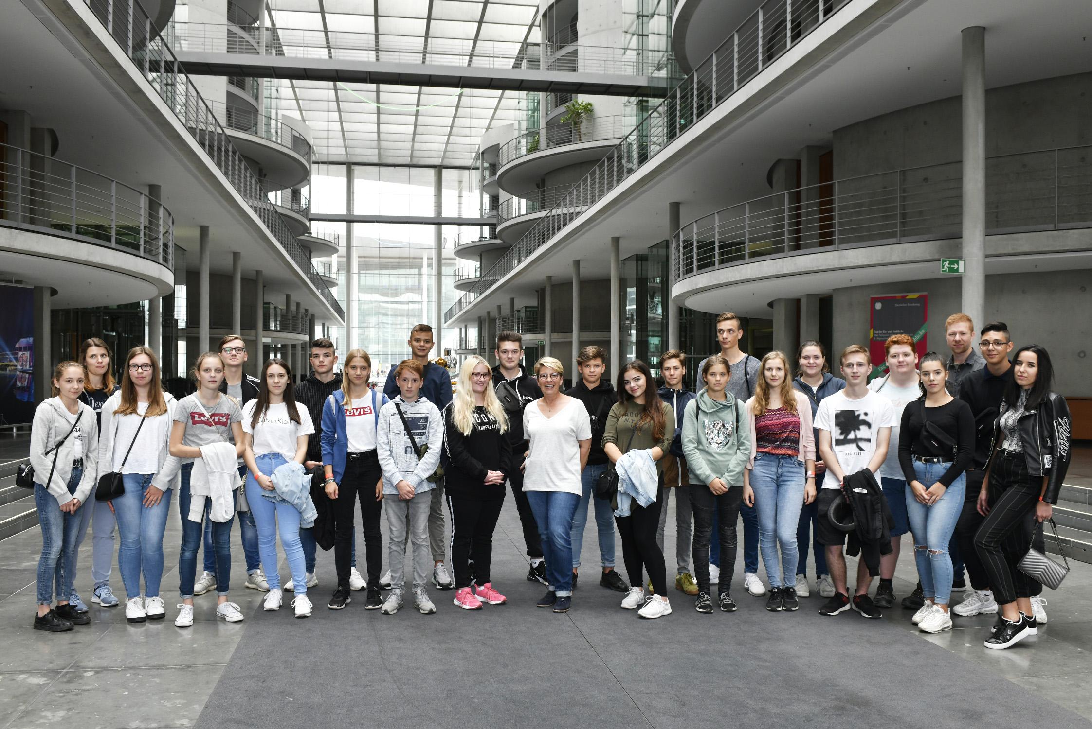 9. Klasse der Realschule aus Durmersheim auf Studienfahrt.