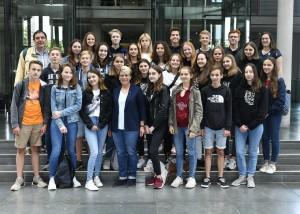 9. Klasse der Klosterschule vom Heiligen Grab aus Baden-Baden auf Studienfahrt.