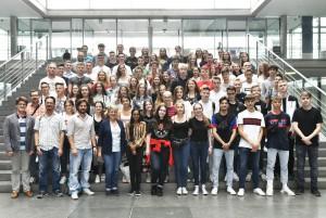 10. Klassen des Ludwig-Wilhelm-Gymnasiums aus Rastatt auf Studienfahrt.