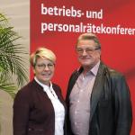 Katzmarek und Herr bei der Betriebs- und Personalrätekonferenz