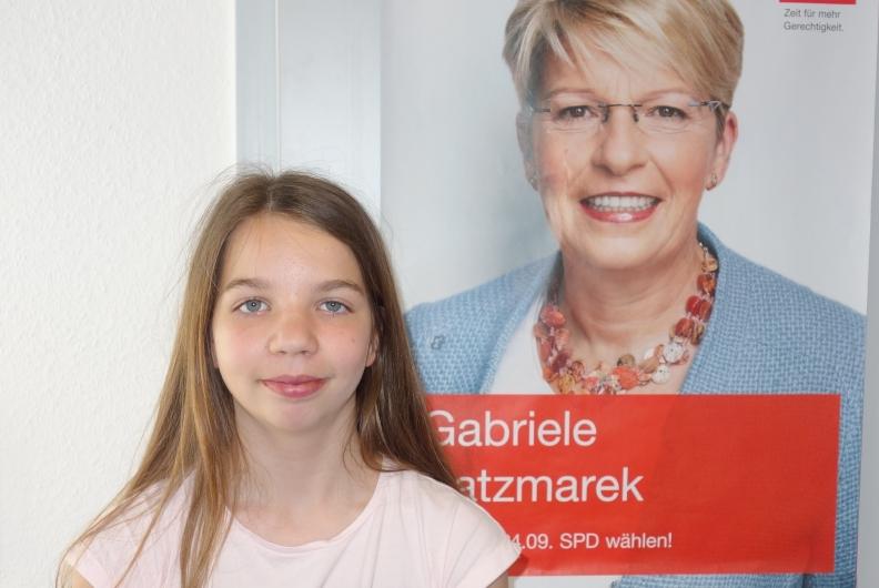Klara Bleich am Girl's Day in meinem Büro