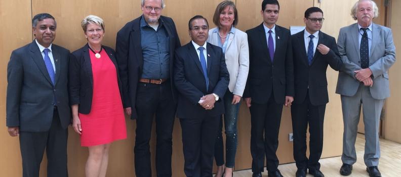 Treffen mit dem nepalesischen Staatssekretär für auswärtige Beziehungen