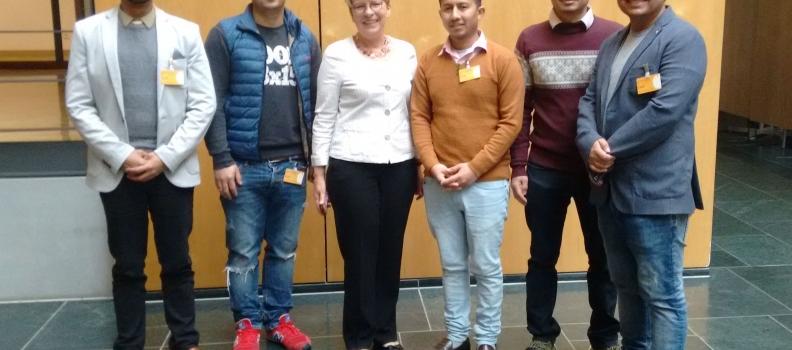 Besuch von Lenin Bista aus Nepal im Bundestag