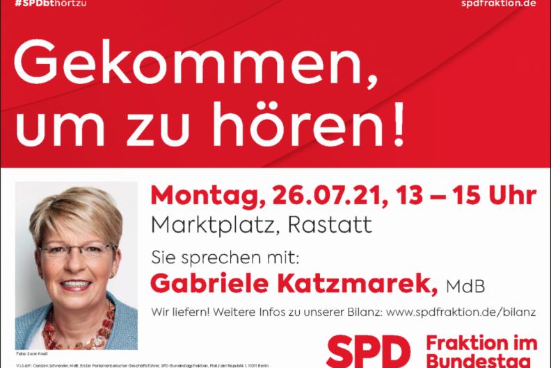 Dialogtour der SPD-Bundestagsfraktion am 26. Juli in Rastatt