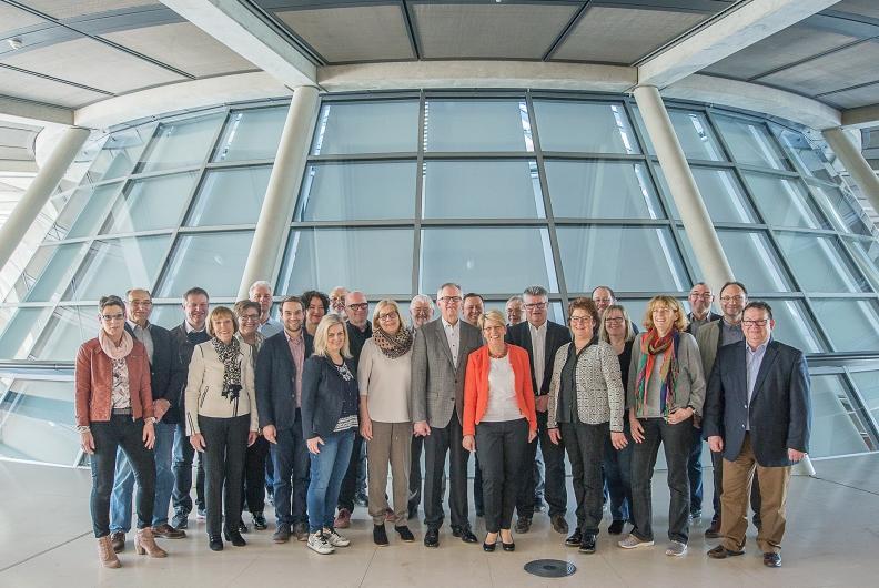 Oberbürgermeister, Bürgermeister und Wirtschaftsförderer aus Mittelbaden zu Besuch