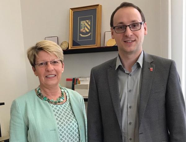 Im Gespräch mit Bürgermeister Markus Burger