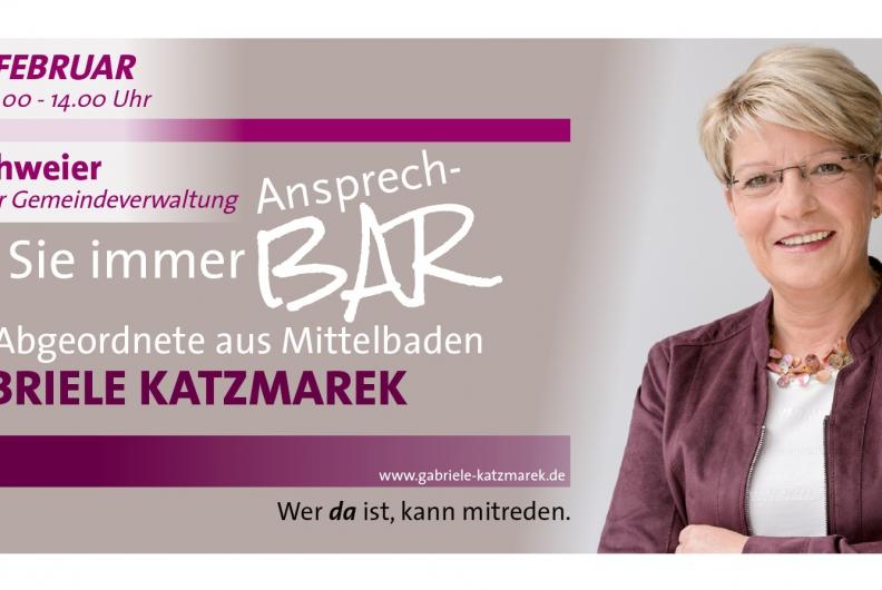 Gabriele Katzmarek lädt ein zur AnsprechBAR