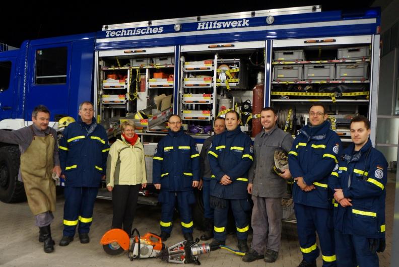 Bundestagsabgeordnete Gabriele Katzmarek besucht das Technische Hilfswerk in Rastatt
