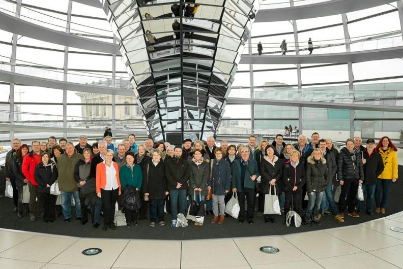 Engagierte Bürgerinnen und Bürger aus Rastatt und Baden Baden auf Einladung in Berlin